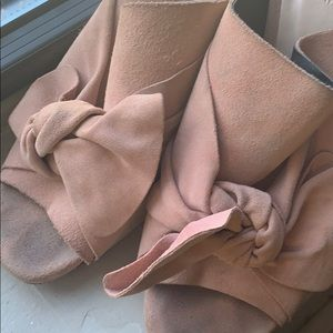 Shoes - Cute bow Zara dusty pink mules